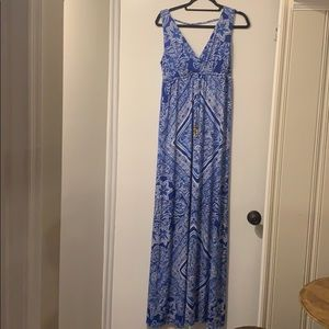 Lilly Pulitzer Blue & White Maxi Dress